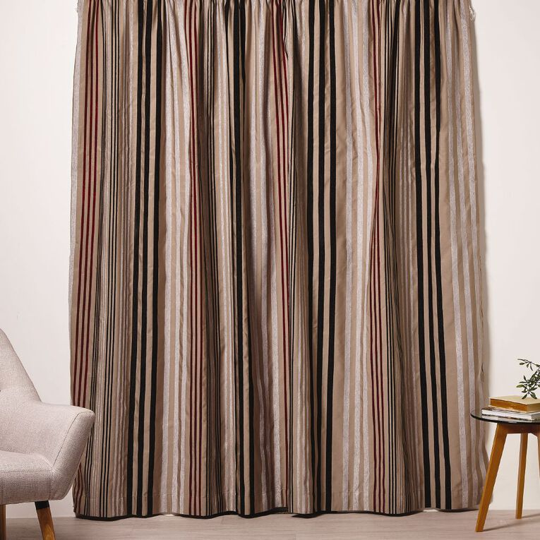 Living & Co Thorndon Curtains Taupe 150-230cm Wide/160cm Drop, Taupe, hi-res