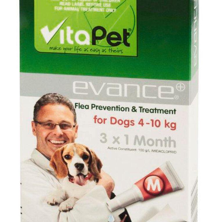 Vitapet Evance Dog Flea Treatment 4 - 10kg, , hi-res