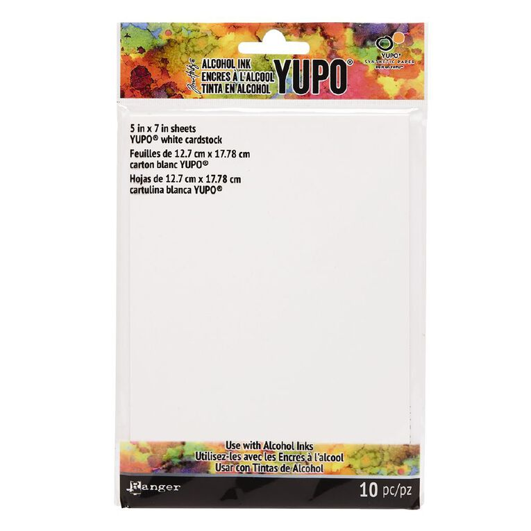 Ranger Tim Holtz Alcohol Ink Yupo White Paper 5in x 7in, , hi-res