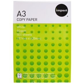 WS Copy Paper 80gsm 500 Pack white A3