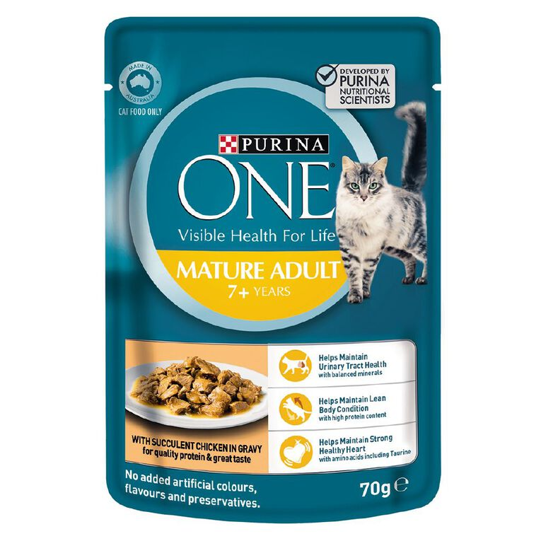 Purina ONE Cat Pouch Mature 7+ 70g, , hi-res