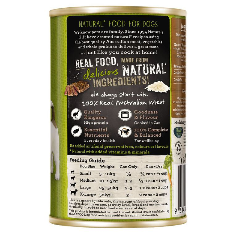 Nature's Gift Meal Time Loaf Kangaroo Rice Vegetable 700g, , hi-res