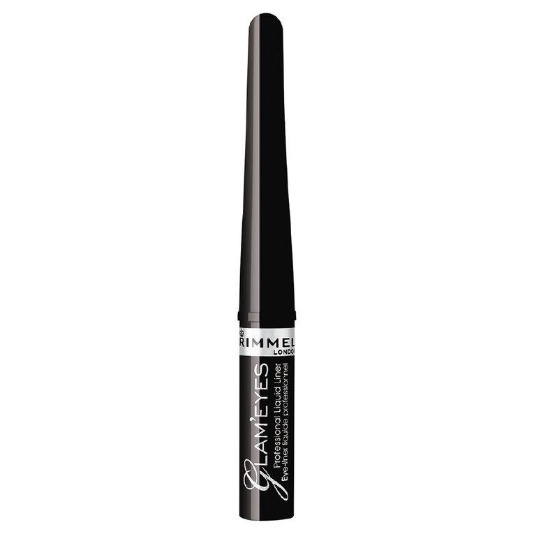 Rimmel Glam Eyes Professional Liquid Eyeliner Ebony Black, , hi-res