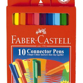 Faber-Castell Connector Felt Pens 10 Pack