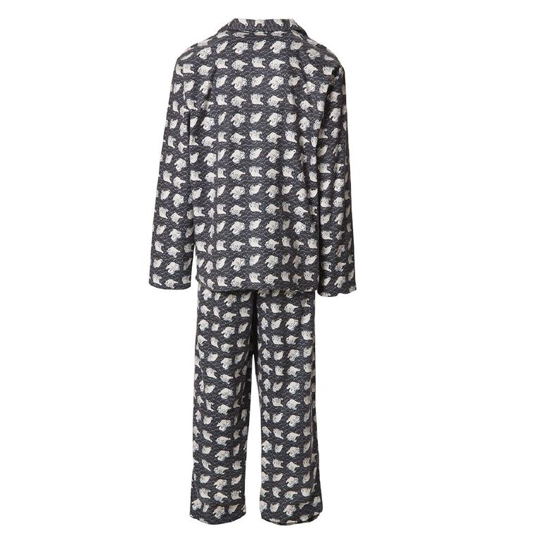 H&H Men's Flannelette Pyjamas, Grey, hi-res image number null
