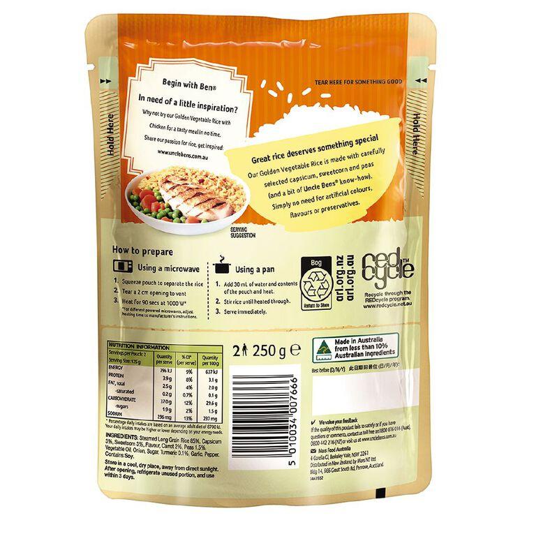 Uncle Ben's Express Rice Golden Vegetable 250g, , hi-res