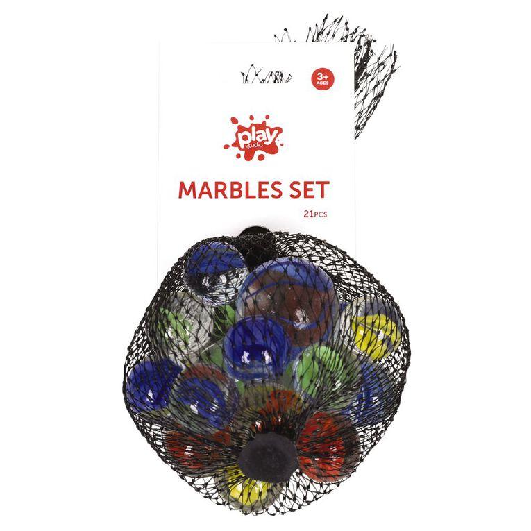 Play Studio Marbles 21 Piece Assorted, , hi-res