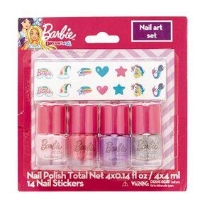Barbie Nail Art Set 4 x 4ml