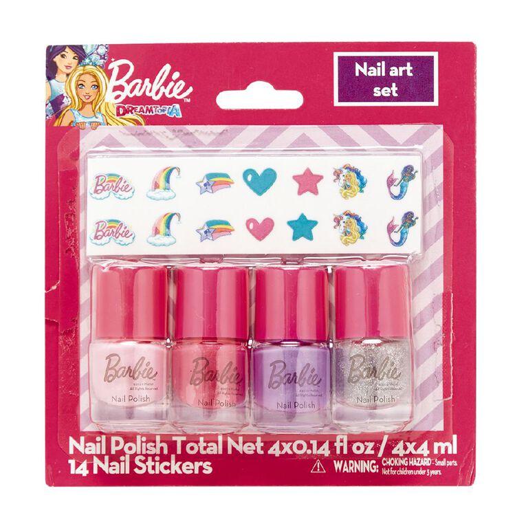 Barbie Nail Art Set 4 x 4ml, , hi-res