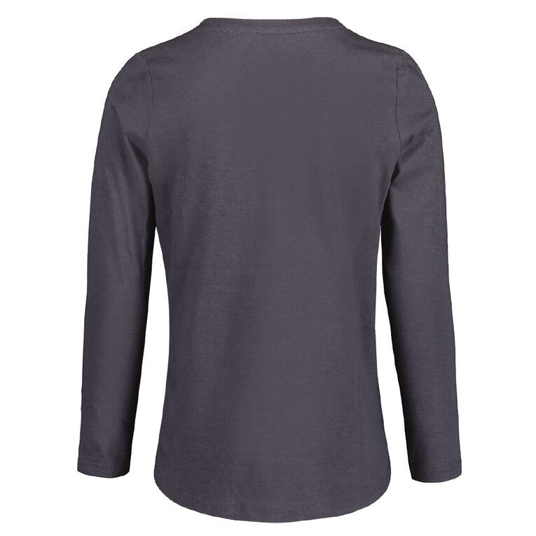 Young Original Brooke Long Sleeve Print Tee, Grey Dark, hi-res