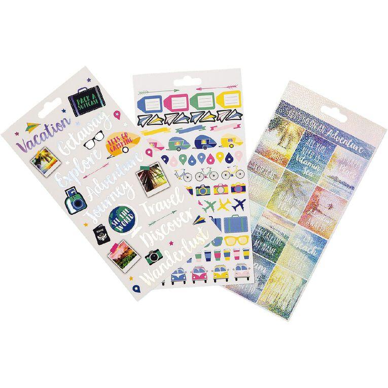 Uniti Sticker Book Travel 16  Sheets, , hi-res