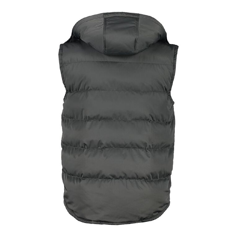 H&H Men's Hooded Vest, Grey Dark, hi-res