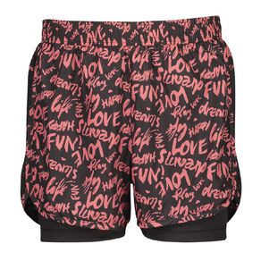 Active Intent Girls 2-In-1 Running Shorts