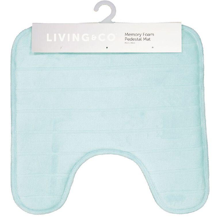 Living & Co Pedestal Mat Memory Foam Aqua One Size, Aqua, hi-res image number null
