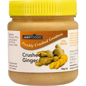 Just Foods Just Ginger 97% Pure & Natural Crushed Ginger 185g