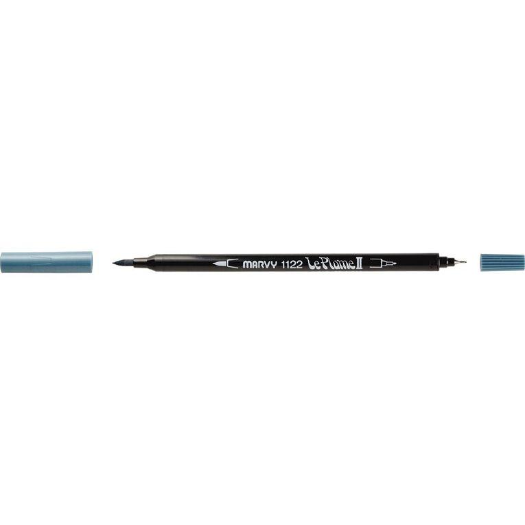 MARVY Le Plume II Dual Tip Marker Dull Blue, , hi-res