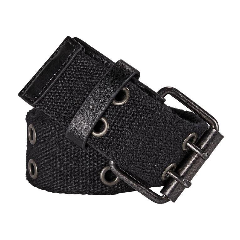 H&H Men's Web Eyelet Belt, Black, hi-res