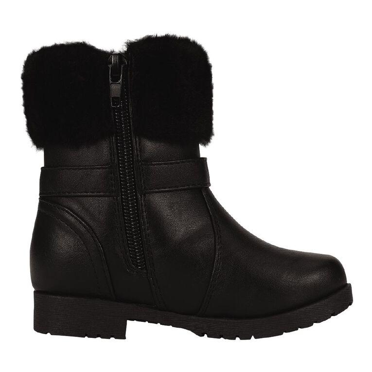 Young Original Kids' Faux Fur Boots, Black, hi-res