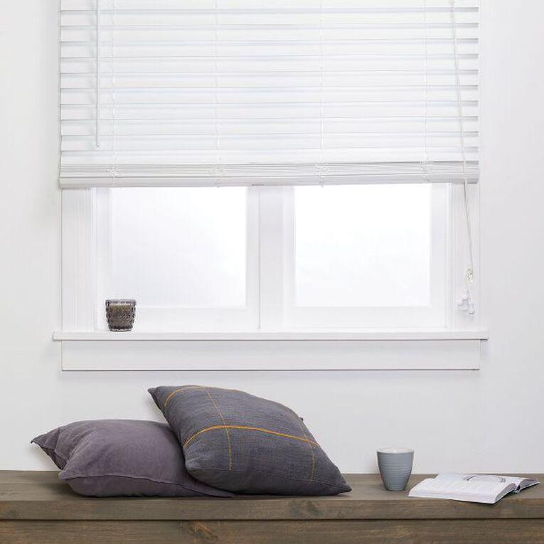 Homeworks 50MM Faux Wood Venetian Blind White 60cm x 150cm, White, hi-res