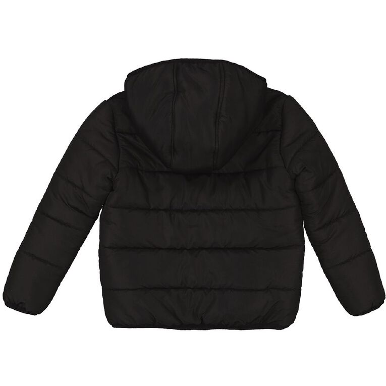 Young Original Plain Puffer Jacket, Black, hi-res