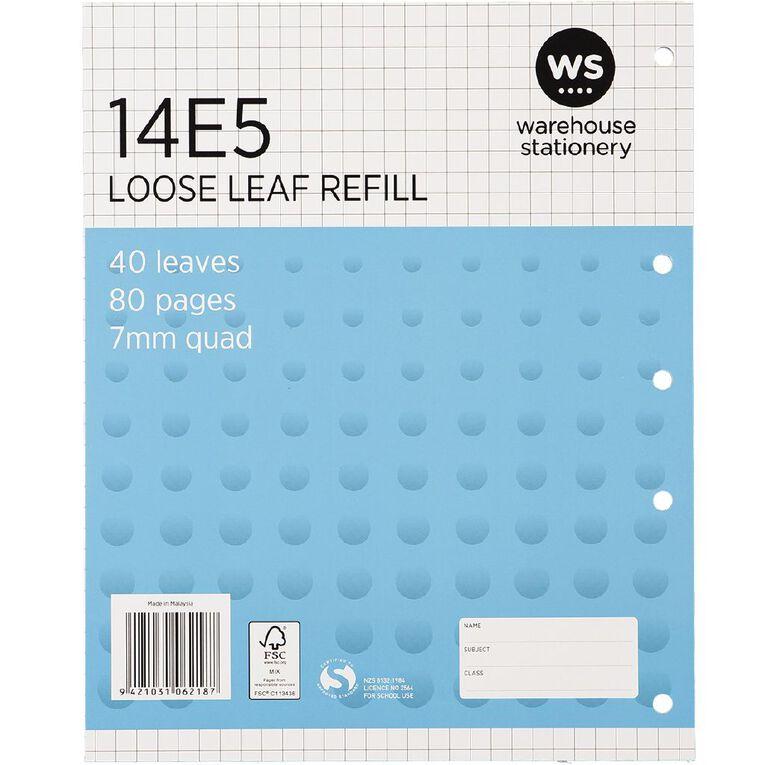WS Pad Refill 14E5 7mm Quad 40 Leaf Punched Blue, , hi-res