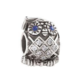 Ane Si Dora Sterling Silver Owl Charm