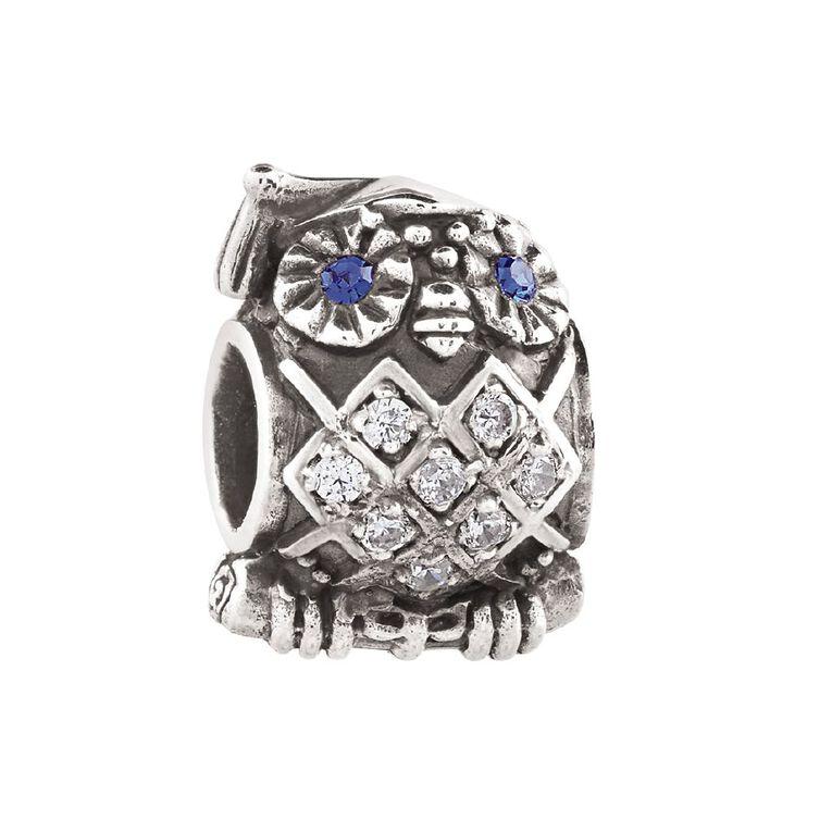 Ane Si Dora Sterling Silver Owl Charm, , hi-res