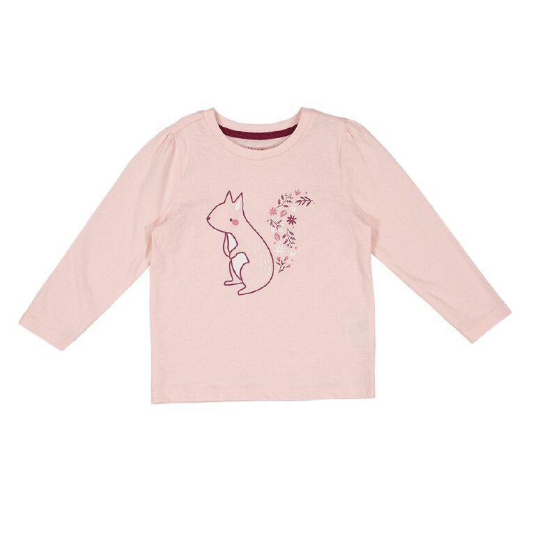 Young Original Toddler 2 Pack Long Sleeve Tees, Pink Light SQUIRREL, hi-res