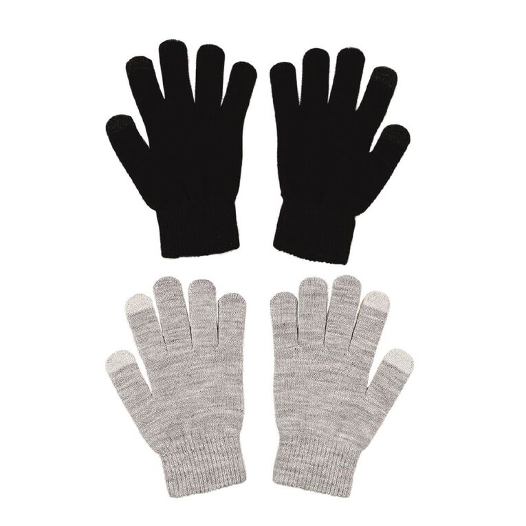 Young Original Kids' Touch Screen Gloves, Black, hi-res
