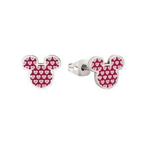 Disney Mickey Mouse Heart Stud Earrings