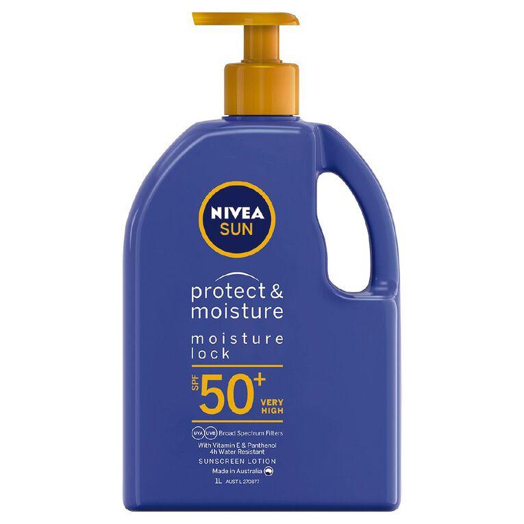 Nivea Sunscreen Moisturising Lotion SPF50+ 1L, , hi-res