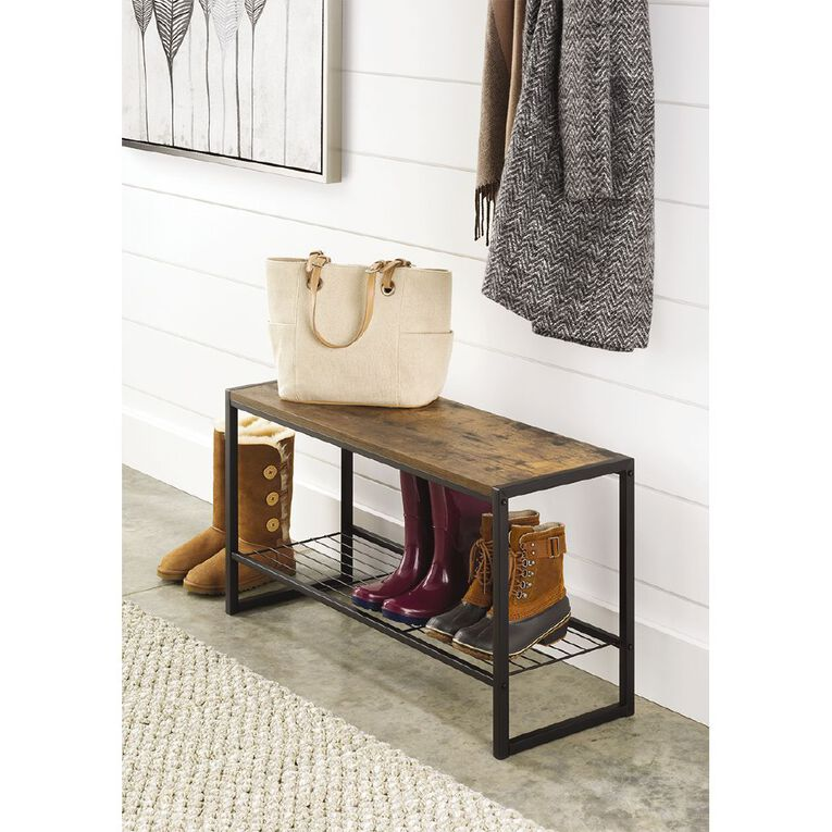 Modern Industrial Entryway Bench, , hi-res