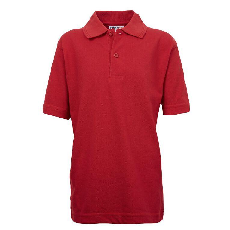 Schooltex Kids' Pique Polo, Red, hi-res