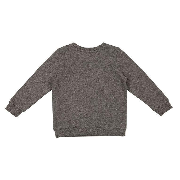 Young Original Toddler Printed Sweatshirt, Charcoal, hi-res