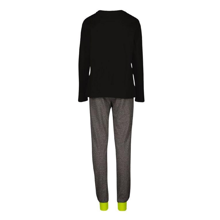 H&H Boy's Long Sleeves Pyjamas, Black, hi-res