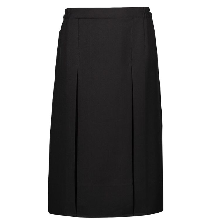 Schooltex Women's Two Pleat Skirt, Black, hi-res