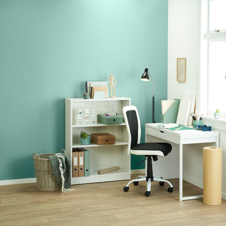 Workspace Soho 3 Tier Bookcase White, , hi-res