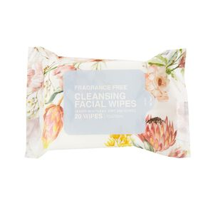 Cleansing Fragrance Free Face Wipes Assorted 20 Pack