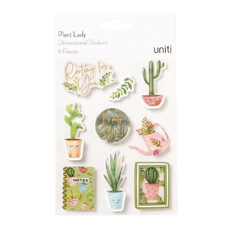 Uniti Plant Lady Dimensional Stickers, , hi-res
