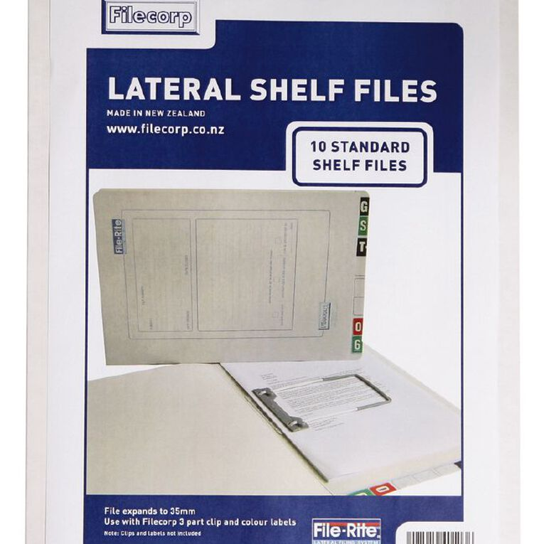 Filecorp 2001 Standard Shelf File 10 Pack White, , hi-res
