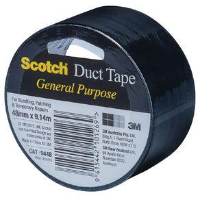 Scotch General Purpose Duct Tape 48mm x 9.14m Black
