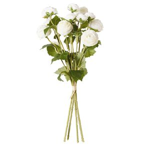 Living & Co Artificial Ranunculus Bunch Ivory 42cm