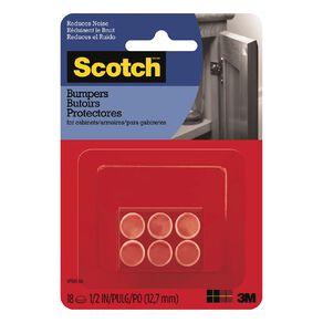Scotch 751ES Self-Stick Rubber Pads Clear 18 Pack