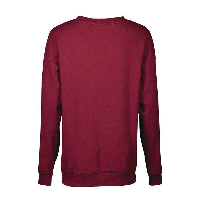 Harry Potter Women's Lounge Sweatshirt, Burgundy, hi-res