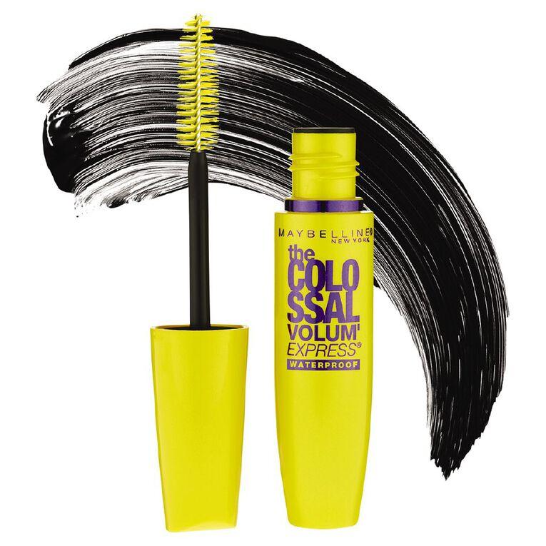 Maybelline Colossal Volume Express Waterproof Mascara Glam Black, , hi-res