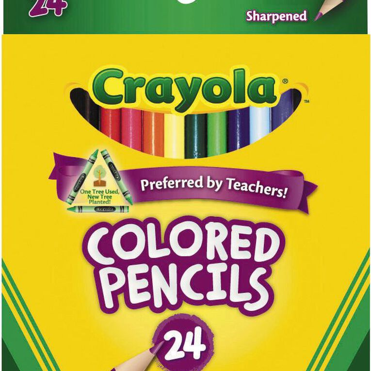 Crayola Coloured Pencils Multi-Coloured 24 Pack, , hi-res
