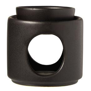 Living & Co Oil Burner Ceramic Black Black 9cm x 9.5cm
