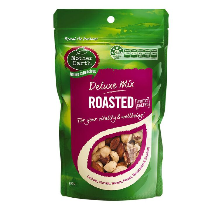 Mother Earth Deluxe Mix Roasted Lightly Salted 150g, , hi-res