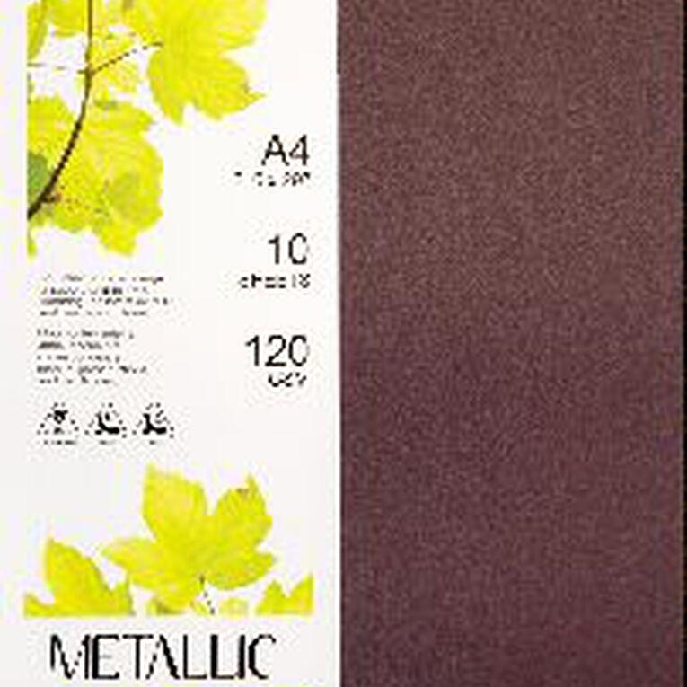Direct Paper Metallic Paper 120gsm 10 Pack Ruby A4, , hi-res