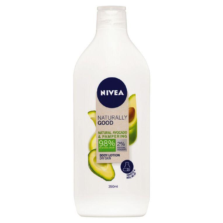 Nivea Naturally Good Body Lotion Avocado 350ml, , hi-res